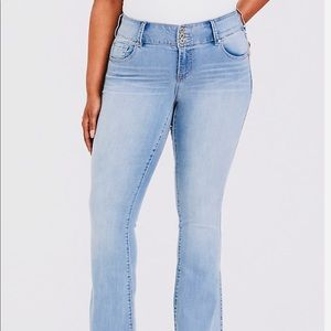 TORRID Women's 12S Stretchy Flare Blue Jeans